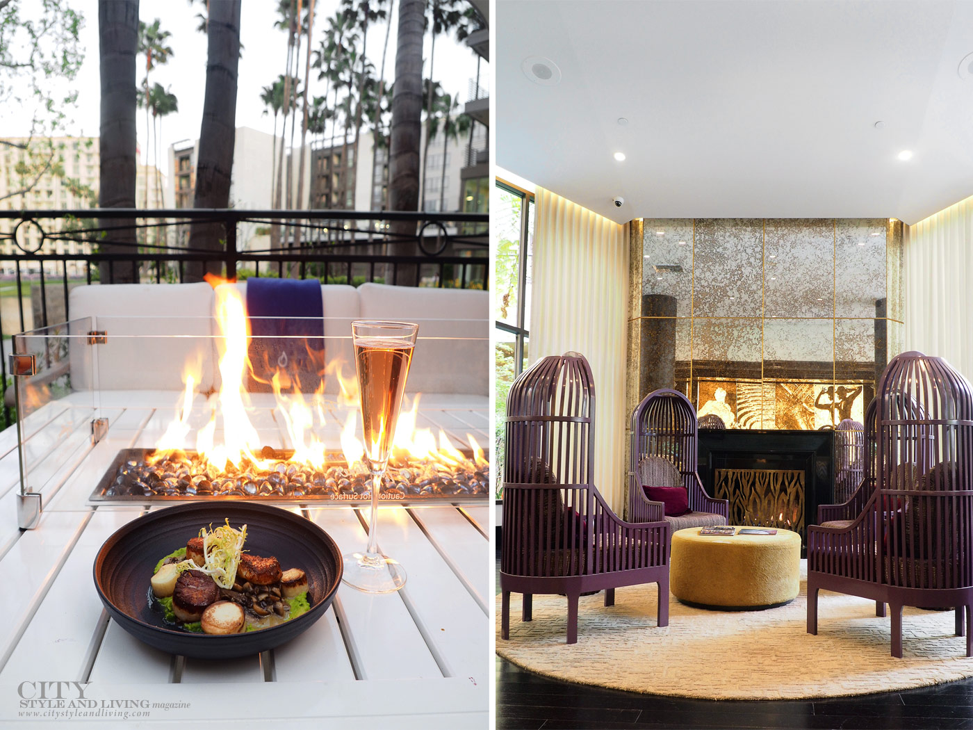 City Style and Living Magazine Summer 2019 Hotels Avenue of the Arts Costa Mesa silver trumpet patio and inside decor