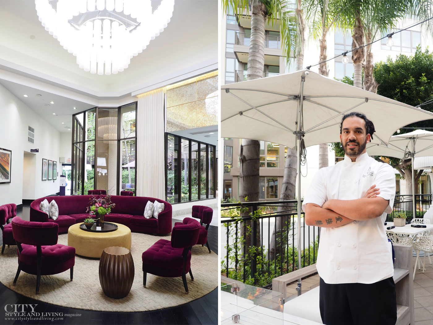 City Style and Living Magazine Summer 2019 Hotels Avenue of the Arts Costa Mesa lobby design and chef hector zamora
