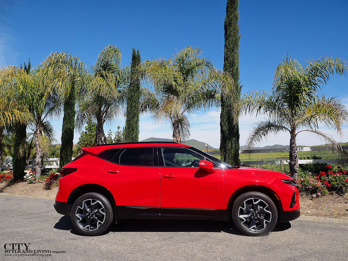 City Style and Living Magazine Summer 2019 Travel Southern California Temecula Chevrolet Blazer in Temecula winery