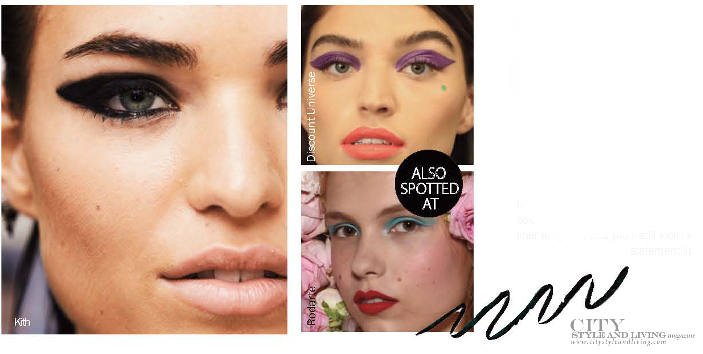 City Style and Living Magazine Summer 2019 Beauty trends Cateye
