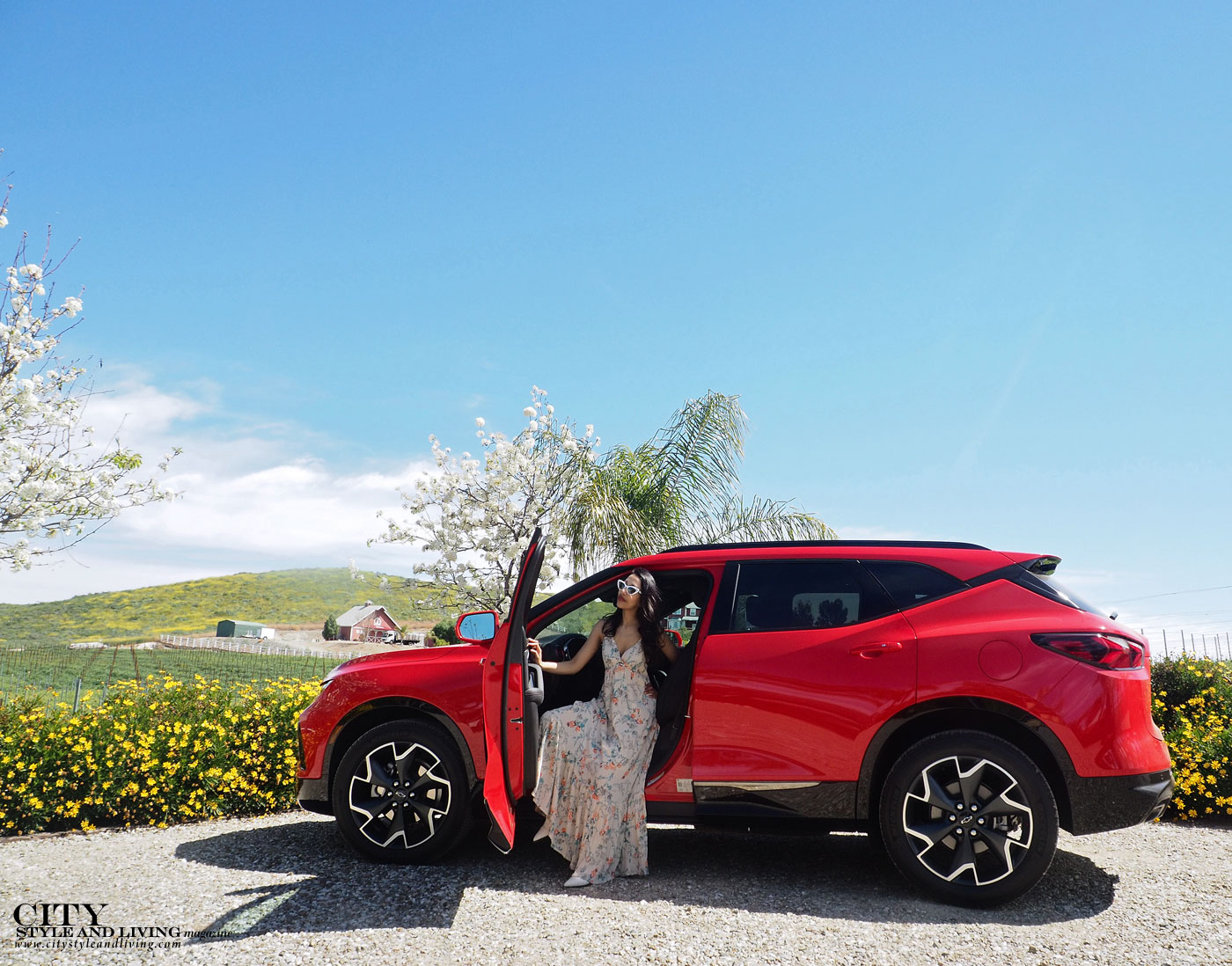 City Style and Living Magazine Summer 2019 Travel Southern California Temecula Chevrolet Blazer sitting