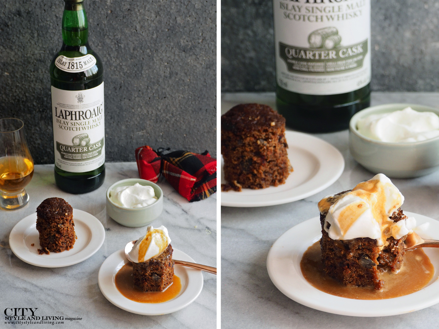 City Style and Living Magazine Food how to pair whisky and dessert Sticky Toffee