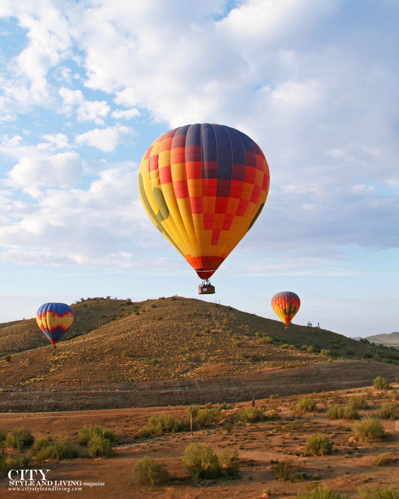 City Style and Living Magazine Travel Fall 2019 Globetrotting adventures Arizona hot air balloon
