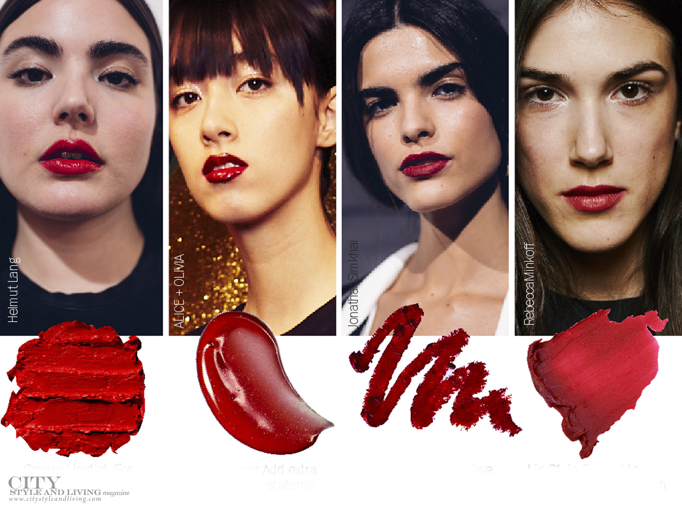 City Style and Living Magazine Beauty Runway Fall 2019 Red Lips