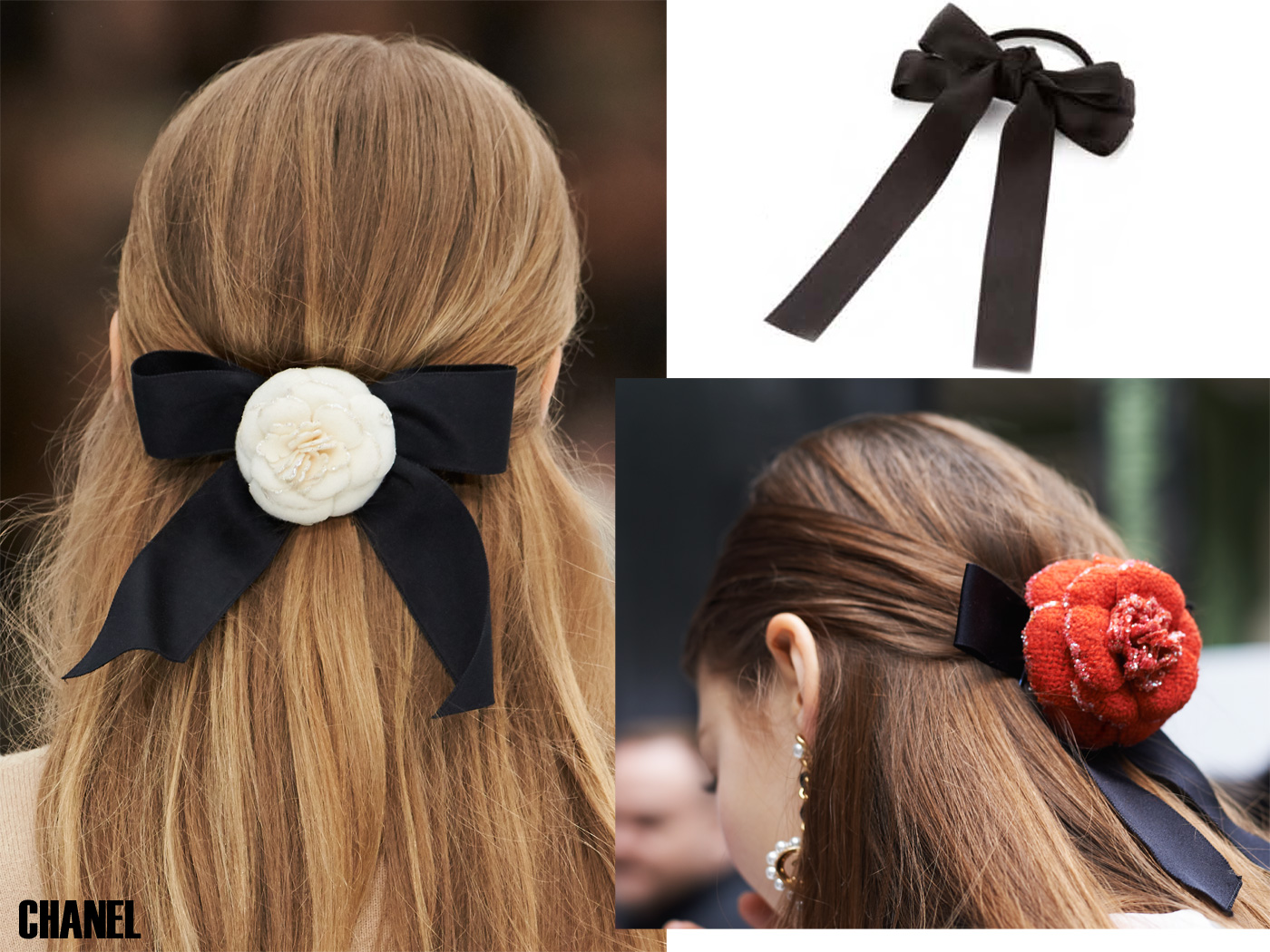 City Style and Living Magazine Beauty Fall 2019 How to Style Hair Ribbons and Scarves Chanel