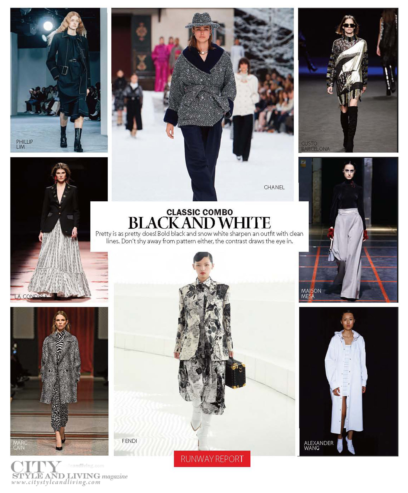 City Style and Living Magazine Fashion Fall 2019 black and white