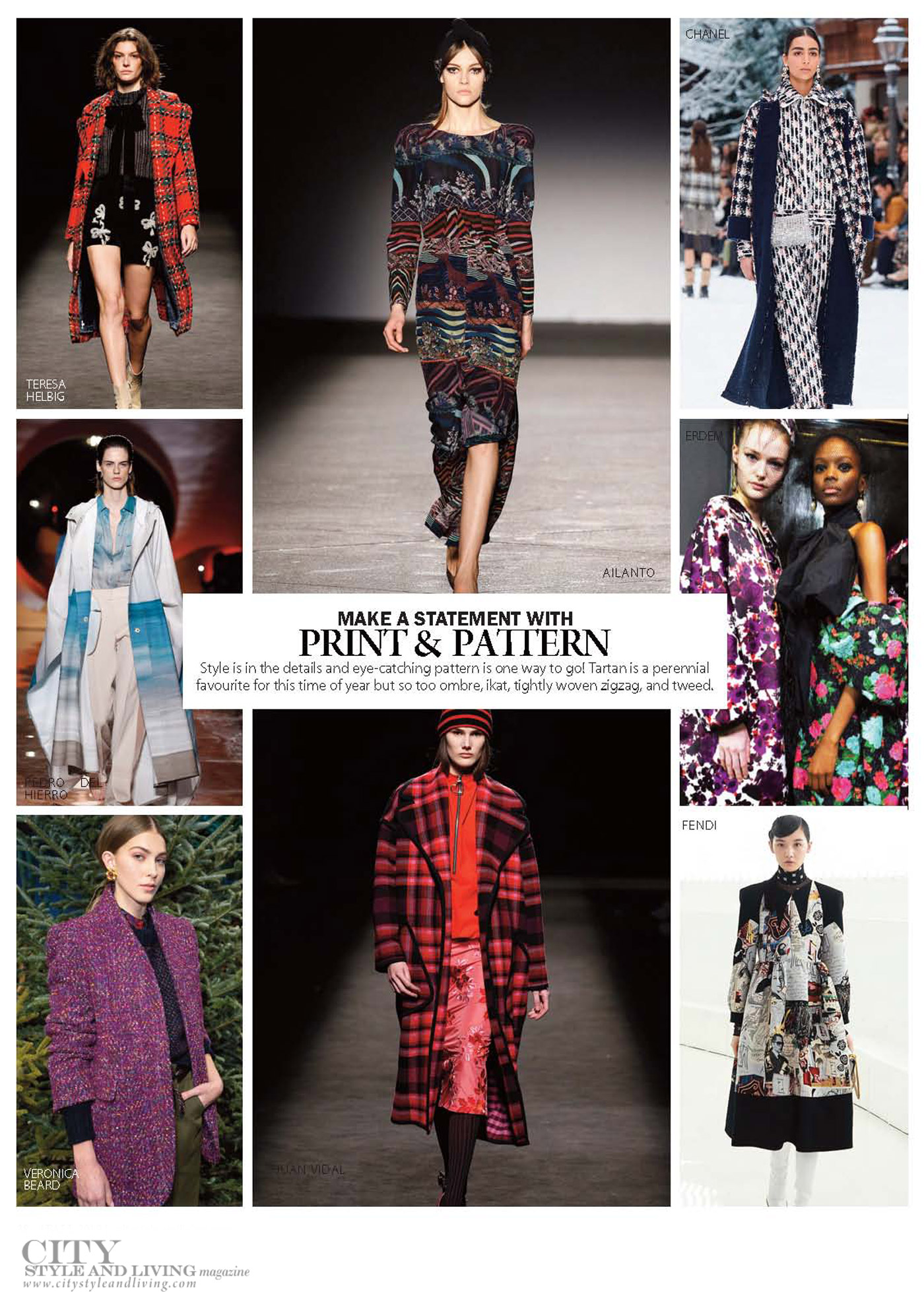 City Style and Living Magazine Fashion Fall 2019 print and pattern