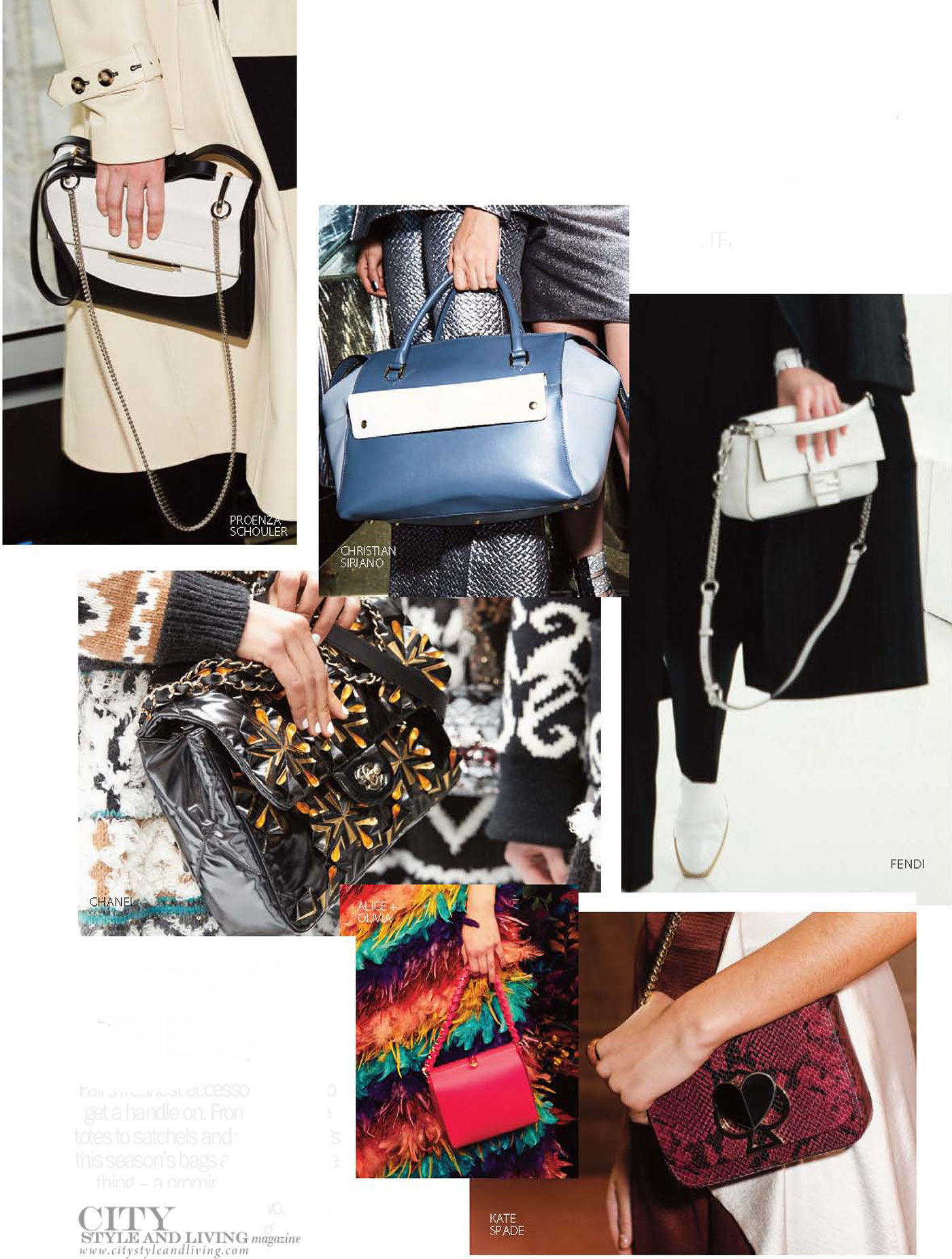 City Style and Living Magazine Fashion Fall 2019 bags