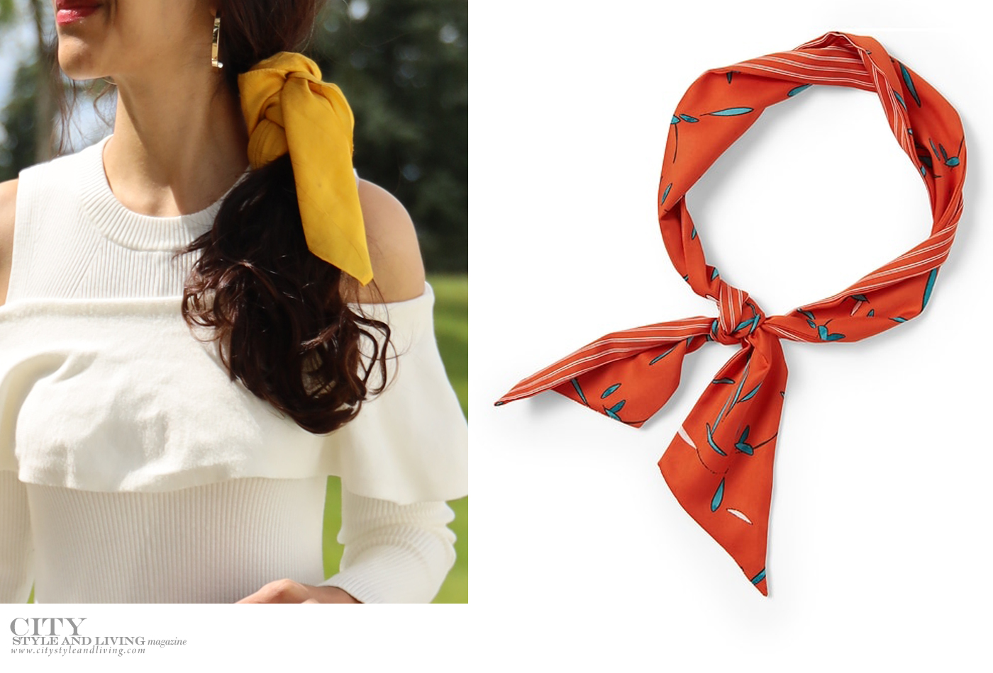 City Style and Living Magazine Beauty Fall 2019 How to Style Hair Ribbons and Scarves