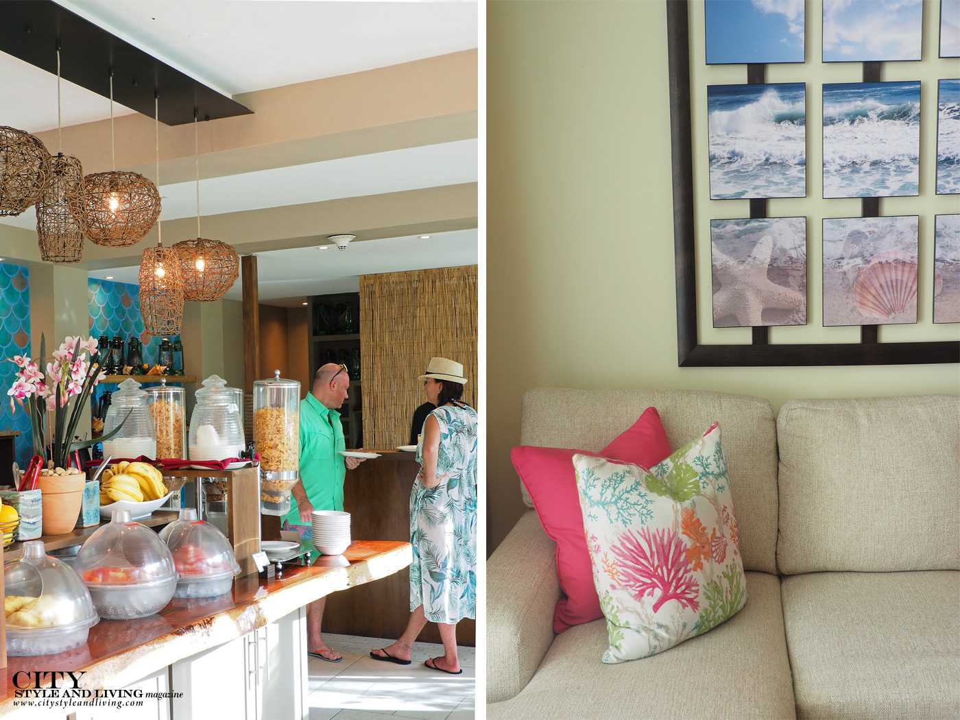 City Style and Living Magazine Winter Barbados Oceans Two Resort and Residences Kailash Maharaj breakfast and living room