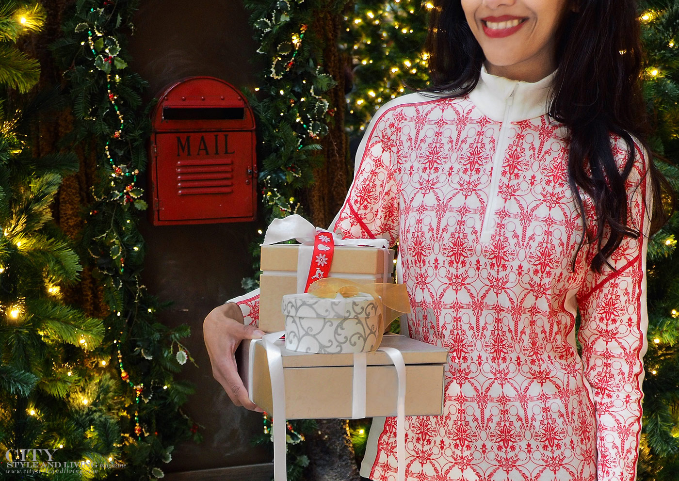 City Style and Living Magazine Winter Shopping hacks for holiday with ups Holding Parcels