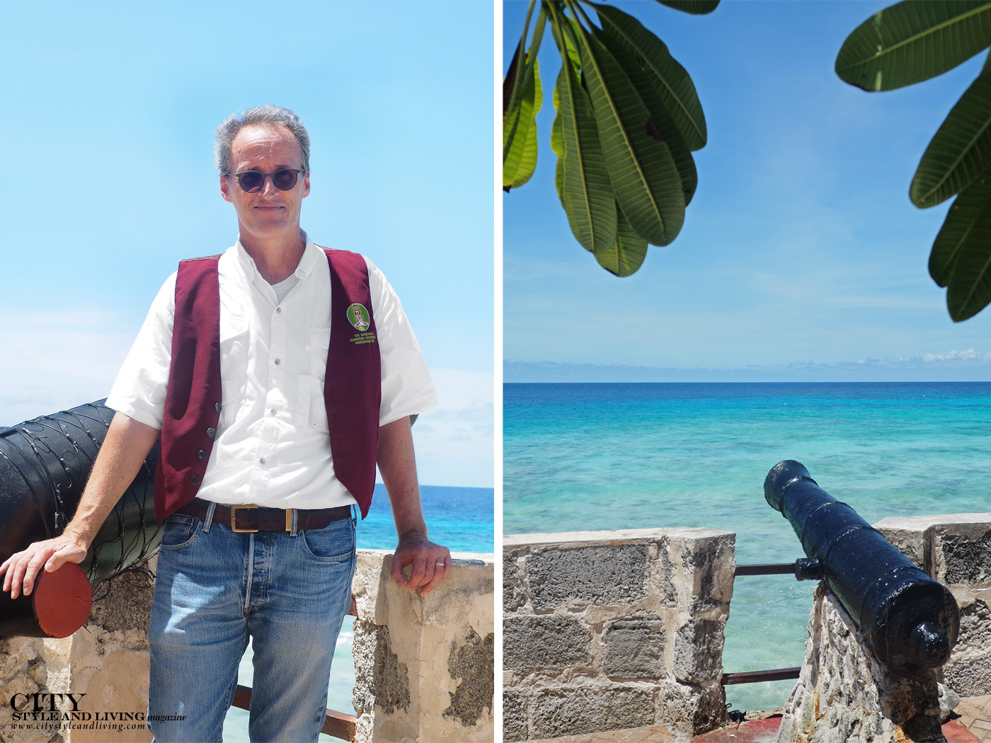 City Style and Living Magazine Winter 2019 Barbados Kailash Maharaj Peter Stevens, President of the Barbados National Trust at Charles Fort