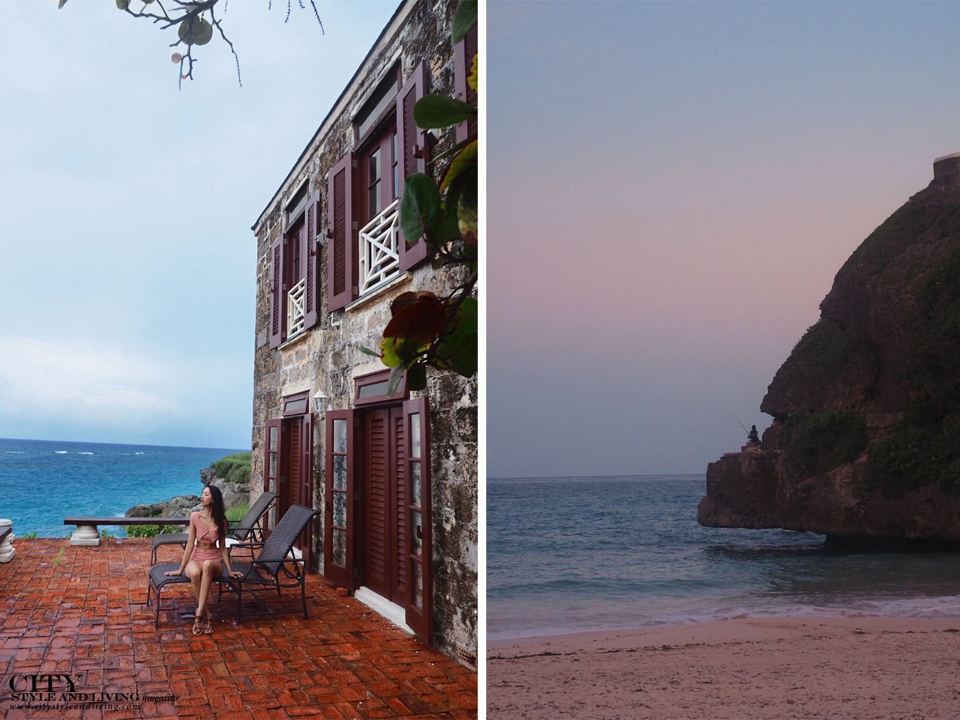 City Style and Living Magazine Winter Barbados Hotels The Crane Kailash Maharaj senset and historic architecture