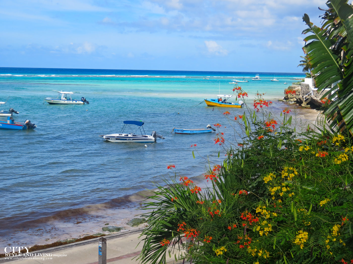 City Style and Living Magazine Winter 2019 Barbados Yellow Bird hotel Kailash Maharaj boats with flowers