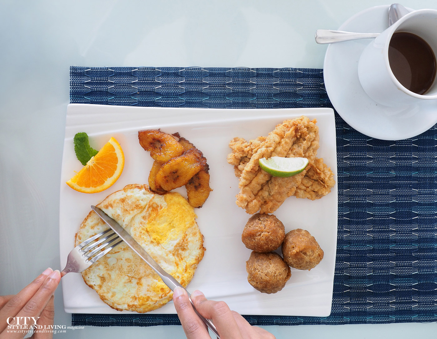 City Style and Living Magazine Winter 2019 Barbados Yellow Bird hotel Kailash Maharaj on the bay restaurant breakfast