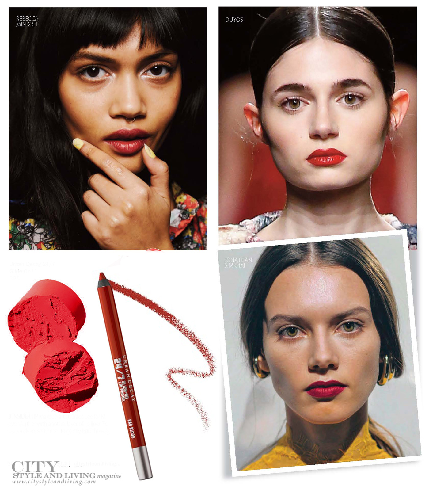 City Style and Living Magazine Winter 2019 Fashion runway beauty The New Garnet Lip