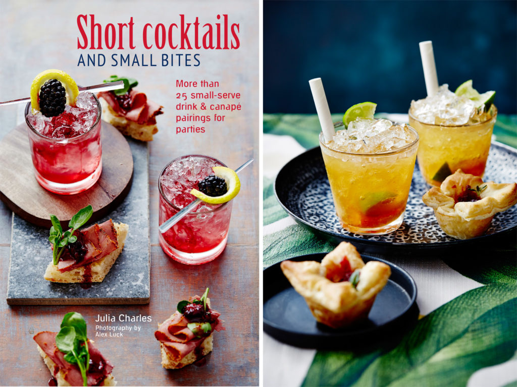City Style and Living Magazine Winter 2019 cocktail and food recipes Clementine Caipirinha with Brie and  Cranberry Sauce Puffs