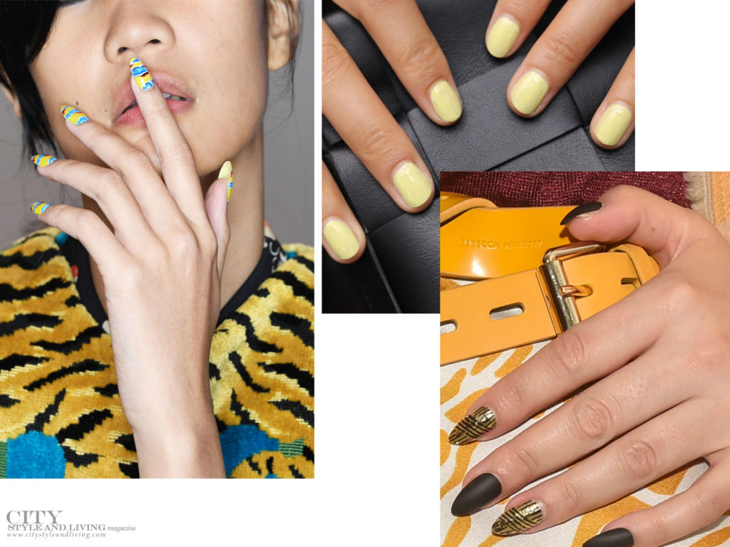City Style and Living Magazine spring 2020 beauty trends Nails Yellow