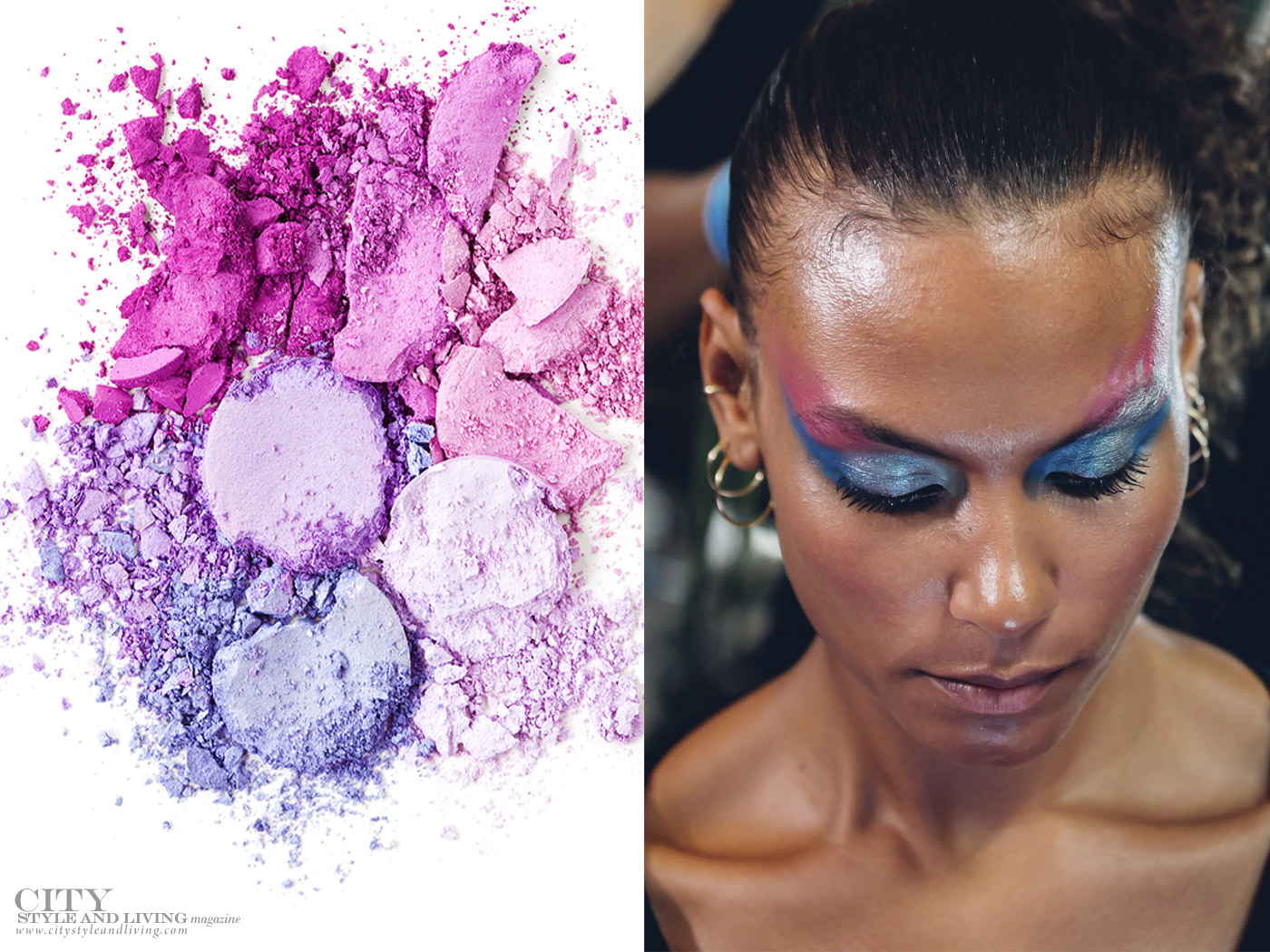 City Style and Living Magazine spring 2020 beauty trends Painterly eyes