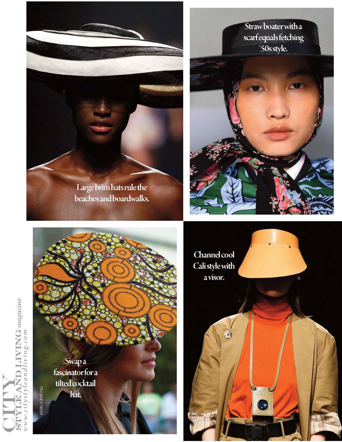 City Style and Living Magazine spring 2020 Fashion Here Are the Trends that are Everything For Spring 2020 hats