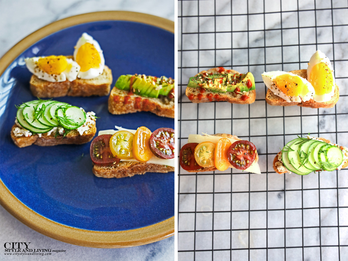 City Style and Living Magazine spring 2020 You're A Real Slice! (Crostini) smorrebrod