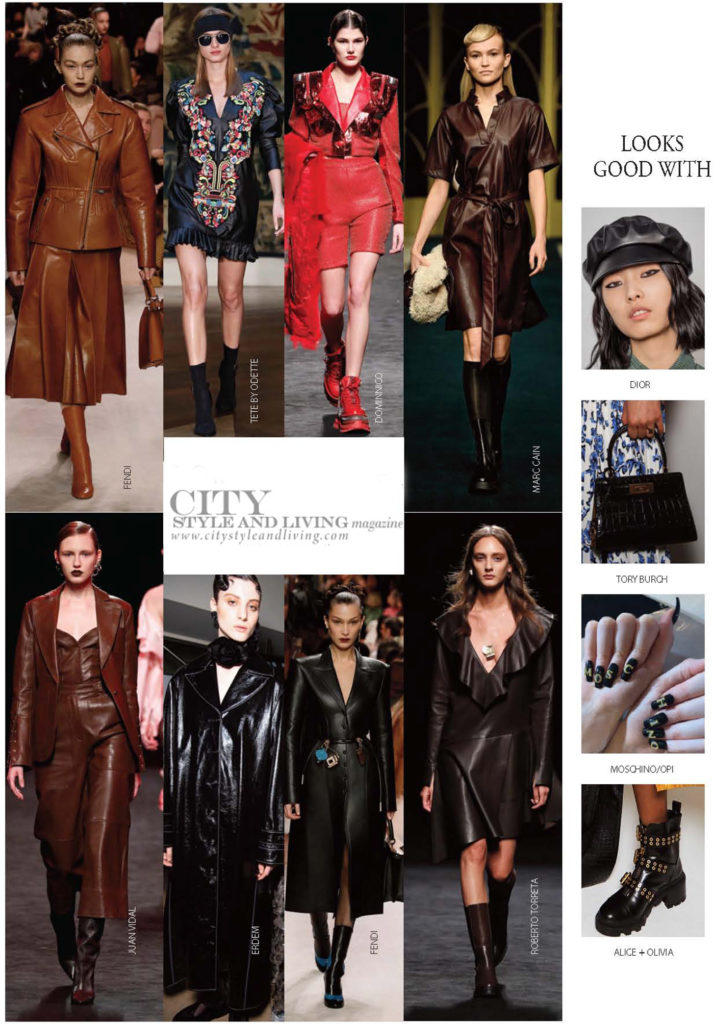 City Style and Living Magazine Fall 2020 The Most Inspiring Trends of Fall 2020 leather