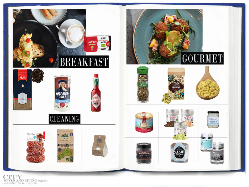City Style and Living Magazine fall 2020 Quarantine Pantry breakfast, cooking, gourmet, salt