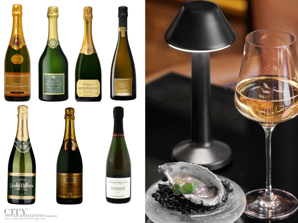 City Style and Living Magazine Winter 2020 Champagne Dreams bottles
