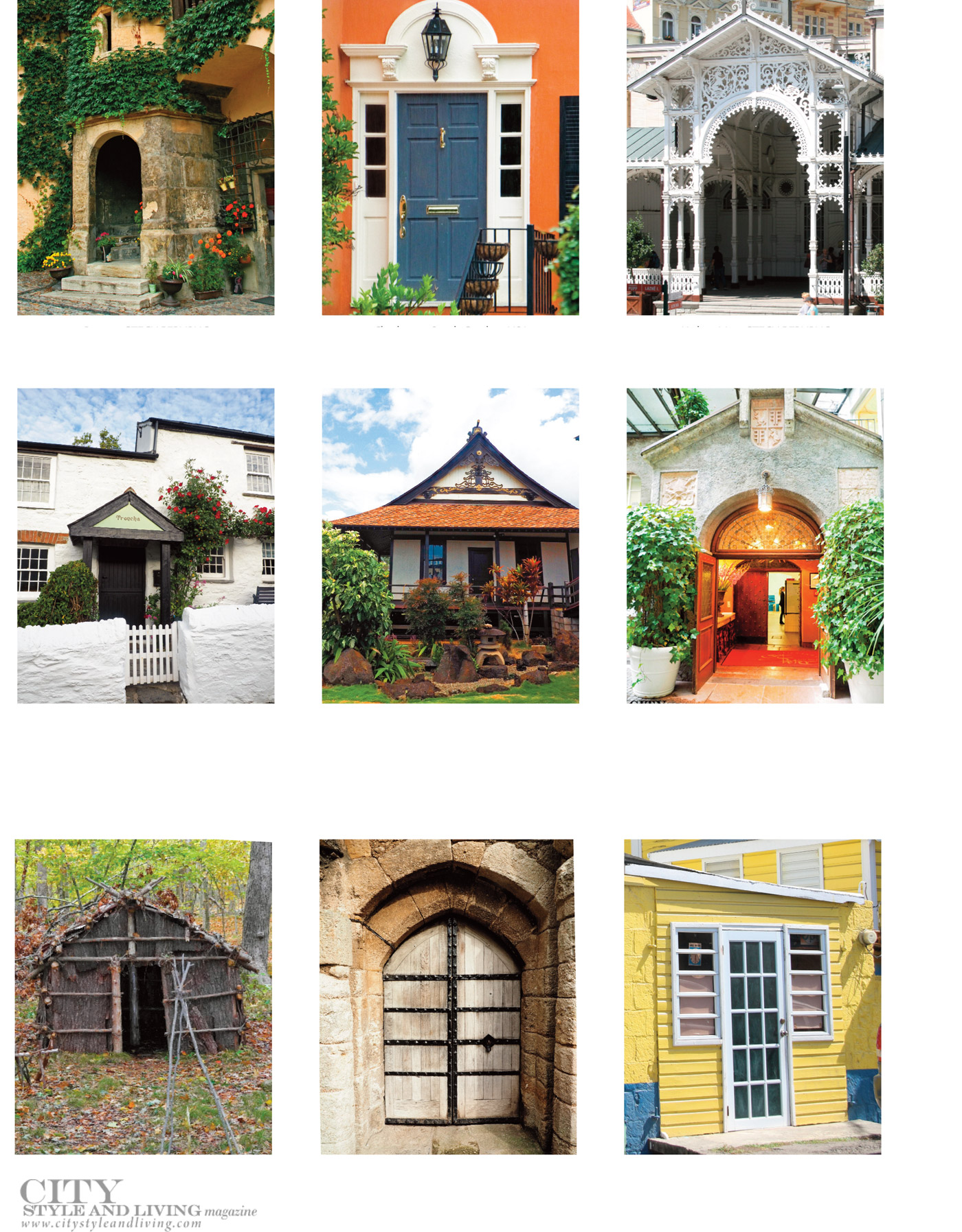 City Style and Living Magazine Winter 2020 A Glimpse at Entrances from Around the World